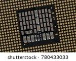land grid array tilted   cpu  ... | Shutterstock . vector #780433033