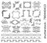 set of vector graphic elements... | Shutterstock .eps vector #780440413