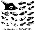 women summer slippers | Shutterstock .eps vector #780443593