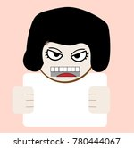 angry cartoon wooman | Shutterstock .eps vector #780444067