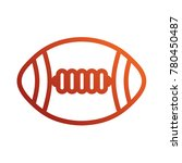 american football ball icon | Shutterstock .eps vector #780450487