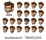the second set of bearded... | Shutterstock .eps vector #780452203