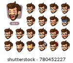 the fourth set of bearded... | Shutterstock .eps vector #780452227