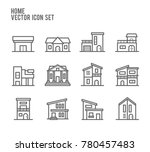 home house building type...   Shutterstock .eps vector #780457483