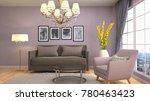 interior living room. 3d...   Shutterstock . vector #780463423