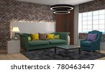 interior living room. 3d... | Shutterstock . vector #780463447