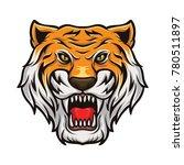 tiger head mascot vector logo...   Shutterstock .eps vector #780511897