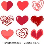 collection of heart shapes.... | Shutterstock .eps vector #780514573
