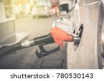 fuel gasoline car in gas station | Shutterstock . vector #780530143