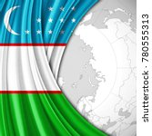 uzbekistan flag of silk  and... | Shutterstock . vector #780555313