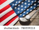 golf ball with flag of usa on... | Shutterstock . vector #780559213