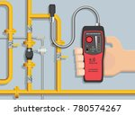lpg ngv gas natural leakage... | Shutterstock .eps vector #780574267