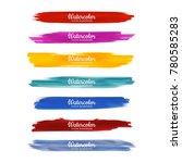 beautiful watercolor strokes... | Shutterstock .eps vector #780585283
