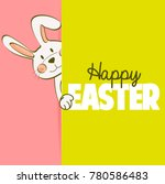 happy easter card. cute bunny | Shutterstock . vector #780586483