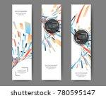 set of abstract vertical web... | Shutterstock .eps vector #780595147