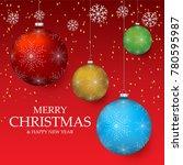 christmas light vector...   Shutterstock .eps vector #780595987