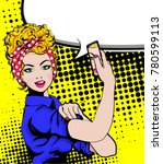 we can do it. iconic woman's... | Shutterstock .eps vector #780599113