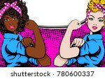 woman vs woman. we can do it.... | Shutterstock .eps vector #780600337