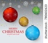 christmas light vector...   Shutterstock .eps vector #780602623