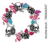 abstract circular frame of... | Shutterstock .eps vector #780606547