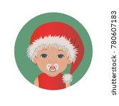 cute baby santa claus emoticon...   Shutterstock .eps vector #780607183