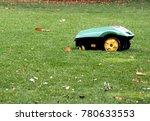 Robot Lawn Mower In Autumn....