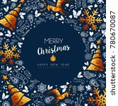 merry christmas greeting card... | Shutterstock . vector #780670087