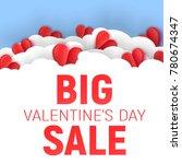 valentine's day big sale offer  ... | Shutterstock .eps vector #780674347