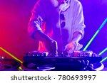 disc jockey at the turntable dj ... | Shutterstock . vector #780693997