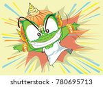 thai giant to leaping action... | Shutterstock .eps vector #780695713