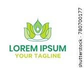 yoga and lotus logo concept | Shutterstock .eps vector #780700177