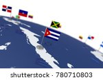 cuba flag. country flag with... | Shutterstock . vector #780710803