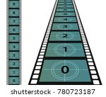 film frame  illustration movie  ... | Shutterstock .eps vector #780723187