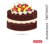 appetizing chocolate cake with... | Shutterstock .eps vector #780734437