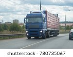 truck on the road under the... | Shutterstock . vector #780735067