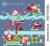 vector christmas  new year... | Shutterstock .eps vector #780753583