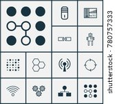 learning icons set with... | Shutterstock .eps vector #780757333