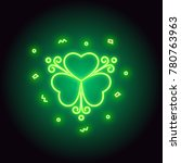 neon green shamrock sign... | Shutterstock .eps vector #780763963