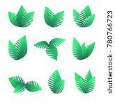 growing green leaf symbols | Shutterstock .eps vector #780766723