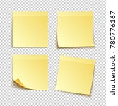 paper set of isolated yellow... | Shutterstock .eps vector #780776167