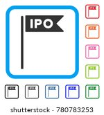 ipo flag icon. flat gray...