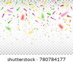 falling confetti pieces.... | Shutterstock .eps vector #780784177