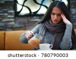 flu cold or allergy symptom... | Shutterstock . vector #780790003