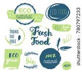 fresh  organic  gluten free ... | Shutterstock .eps vector #780797233