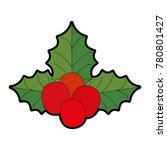 christmas leafs decorative icon | Shutterstock .eps vector #780801427
