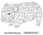adult coloring book page a cute ... | Shutterstock .eps vector #780802507