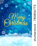 merry christmas greeting on... | Shutterstock .eps vector #780806773