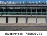 pit stop lines and garage area... | Shutterstock . vector #780809293