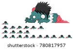 animated zombie character for... | Shutterstock .eps vector #780817957