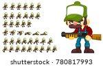 redneck animated character for...   Shutterstock .eps vector #780817993